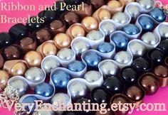 Ribbon Pearl Bracelets
