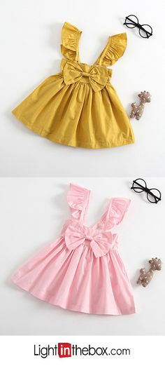 Baby Girls' Solid Colored Sleeveless Dress