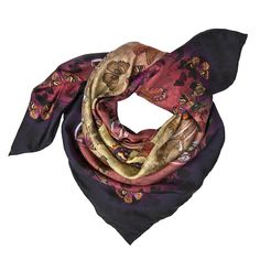 Entomology: Designed by talented young designer from Scotland, Helen Ruth. Helen hand drew the painting and then digitally printed on 100% silk twill to give a soft luxurious feeling to the wearer.  Material: 100% silk twill  Hand-rolled edge  Made in Scotland (UK) #Silk #Scarf