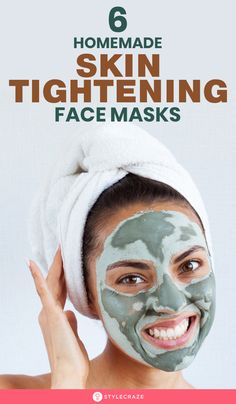 6 Homemade Skin Tightening Face Packs - - The skin starts becoming saggy as we grow older. Factors such as age, sun, unhealthy diet, can affect your skin. Try these homemade skin tightening masks. Homemade Facials, Homemade Face Masks, Facemask Homemade, Tightening Face Mask, Aloe Vera Face Mask, Too Faced, Loose Skin, Dry Skin, Face Masks