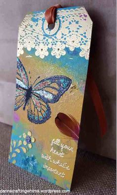 Unity Stamp Co; Dreamweaver; Ranger Tim Holtz Distress Paint, Stickles, tissue tape; Imagine Crafts Creative Medium, Goosebumps; Recollections Encrusted Jewel kit...
