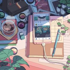Image about love in Drawing🌷 by Fujo~ on We Heart It – Anime Cartoon Kunst, Cartoon Art, Party Cartoon, Cartoon Movies, Aesthetic Art, Aesthetic Anime, Aesthetic Vintage, Aesthetic Pictures, Aesthetic Women