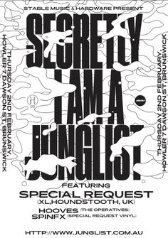"gdbot: ""studio–io:Junglist Posters for @stablemusic http://ift.tt/2ls3v1t """