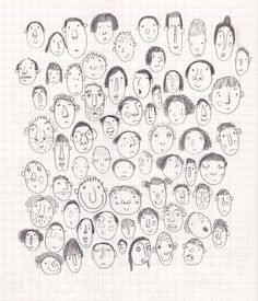 Items similar to Faces from my sketchbook print on Etsy