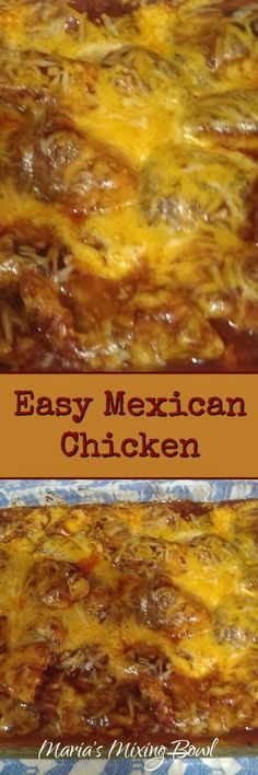 Easy Mexican Chicken - One of our tastiest, easiest weeknight meals. Delicious served over rice or keep it low carb and serve it with mashed cauliflower. #easy #mexican #chicken # lowcarb #keto