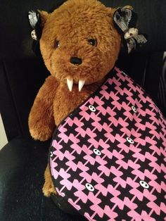Pink Black Crosses Baby Burp Cloth by babybatboutique on Etsy, $6.99