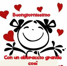 Buongiorno a te 8983 Good Morning Kisses, Good Morning Good Night, Day For Night, Italian Memes, Happy Birthday Funny, Emoticon, Stars And Moon, Happy Day, Rock Art