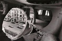 BUILDING BREAK-THROUGH | GORDON MATTA CLARK  ARCHITECTURE, BUILDING, CIRCULAR, ART, TUBE, CYLINDER - Patternity | Research