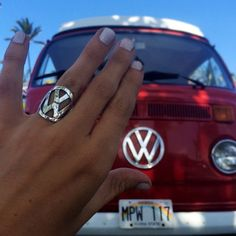 VW Ring made from a vintage Volkswagen key by AngelAlchemy on Etsy