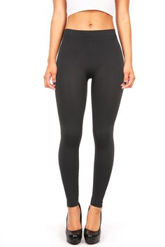Active Women's Juniors Basic Stretchy Spandex Leggings (S/M, Charcoal) -- Awesome products selected by Anna Churchill