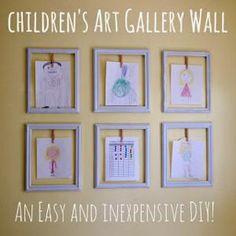 7 Ways to Display Children's Art: DIY Gallery Wall