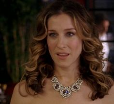 Carrie Bradshaw in one of our favorite necklaces from SATC