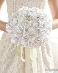 Paper Rose Wedding Bouquet by Ellinee