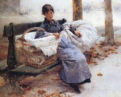 Laundress, 1880, Pascal-Adolphe-Jean Dagnan-Bouveret. French (1852 - 1929)