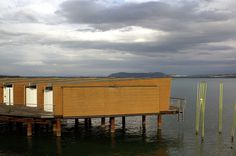Hotel Palafitte, built on a lake - Neuchatel Hotels, Midcentury Modern, Hospitality, Modern Architecture, Beautiful Things, Buildings, Mid Century, Europe, France