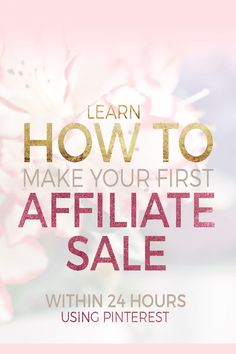 Learn how to make money from your blog through affiliate marketing. This ebook is jammed packed with affiliate marketing advice and tips to help get you started and making your first sale within 24 HOURS. It teaches you what affiliate marketing is, how yo