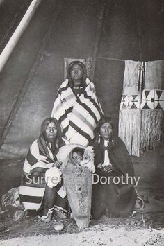 Shoshoni Women and Child Native People Photogravure, via Flickr.