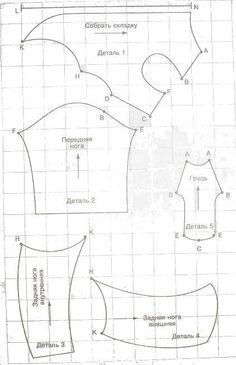 Выкройка комбинезона для тойтерьера, чихуахуа, йорк, китайской хохлатой, а <u>шапочки</u> также крупных пород своими руками