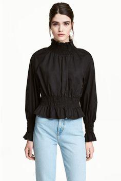Blusa fruncida de algodón pima