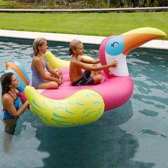 Inflatable Mega Toucan 2 Person Ride Island Float Pool Lake Lounge Toy #SunPleasure