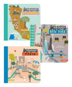 Look at this #zulilyfind! All Aboard New York, California & Paris Board Book Set #zulilyfinds