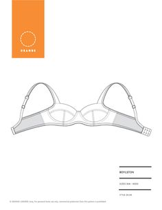 PDF sewing pattern for an underwire bra by Orange Lingerie - Boylston Bra by OrangeLingerie on Etsy https://www.etsy.com/listing/235545519/pdf-sewing-pattern-for-an-underwire-bra