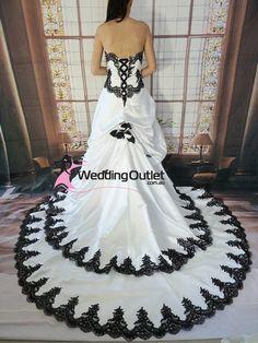 Scarlett Black and White wedding dress Keywords: #weddings #jevelweddingplanning Follow Us: www.jevelweddingplanning.com  www.facebook.com/jevelweddingplanning/