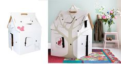 Play for all ages: room for imagination and creation. Made from durable and environmental friendly materials. Cardboard Playhouse, Play Houses, Toddler Bed, Room, Kids, Furniture, Design, Home Decor, Shed Homes