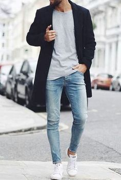 Ideas Style Vestimentaire Homme Décontracté For 2019 Rugged Style, Men Fashion Show, Mens Fashion Suits, Fashion Ideas, Mens College Fashion, Mode Man, Winter Outfits Men, Mens Clothing Styles, Autumn Fashion
