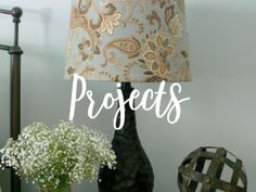 This DIY Lampshade was fun, besides being quick, easy and affordable. I like these lamps, but they needed a little pizzazz. I'm still working on getting our bedroom decorated and when I found this fabric I