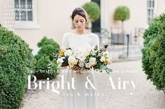 Bright & Airy Toned Wedding Kit for Professional Results in Adobe Lightroom  Is your wedding work lacking brightness, clarity, and softness? Out Bright & Airy Toned Wedding Kit is exactly what you need if you crave bright, soft, airy wedding photography. This handpicked collection of
