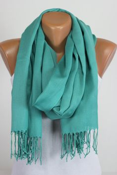 Pashmina, Solid Color, Pastel, Scarf, Thread Fringe, Tasselled, Gift Ideas For Her, Women Fashion Accessories, Best Selling Items, Oversized