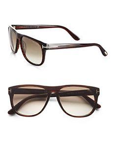 Tom Ford Eyewear - Olivier Oversized Wayfarer-Inspired Acetate Sunglasses