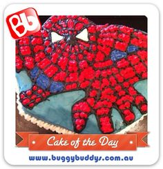Spiderman Birthday Cake. For kids party ideas in Perth, WA see the Buggybuddys website http://www.buggybuddys.com.au/kids_party_perth.html