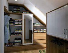 """* garderoba na poddaszu * - zdjęcie od Studio Architektury Wnętrz """"rychtownia"""""""