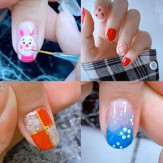 Nail Art Designs Videos, Nail Art Videos, Best Nail Art Designs, Nail Art Hacks, Nail Art Diy, Cool Nail Art, Animal Nail Art, Trendy Nail Art, Halloween Nail Designs