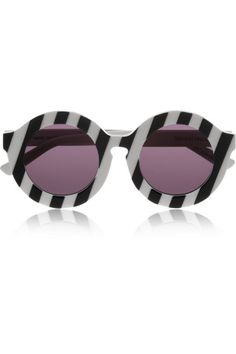 House of Holland|Peggy striped round-frame acetate sunglasses