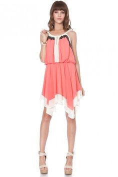 Coral hankerchief dress - why is it called hankerchief?