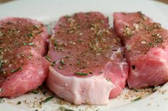 Everyone at home loves this rub.  Great with sweet potatoes or with rosemary roasted potatoes and asparagus.