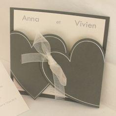 205 meilleures images du tableau faire part de mariage en. Black Bedroom Furniture Sets. Home Design Ideas