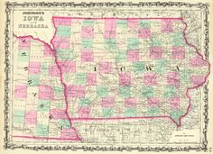 17 Best Iowa Images Antique Maps Iowa Old Maps