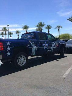 Dallas Cowboys fans truck