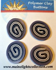 Fancy Polymer Clay Buttons. $12.00, via Etsy.
