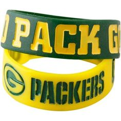 Green Bay Packers 2-Pack Green-Gold Bulk Bandz Bracelets #UltimateTailgate #Fanatics