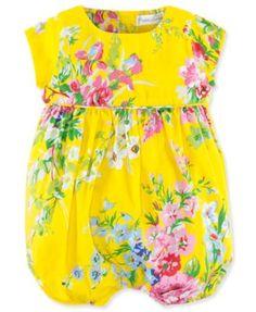 Ralph Lauren Baby Girls' Floral Shortall