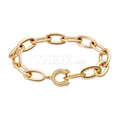 Replica Cartier Clic A Clasp With 21 Diamonds 18k Pink Gold Chain Bracelet 1 High Quality