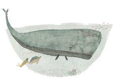 Whale. Art print. Ilustration Print.