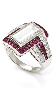 Platinum with Diamonds and Rubies