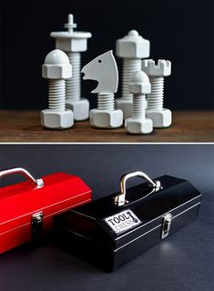 Tool chess set.  --------  Men's Gear, Gadgets For Guys | Gift Guide For Men | werd.com