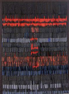 Fiber art by Abdoulaye Konaté #fiberart #textiles #Mali